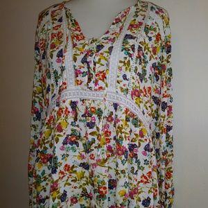 Jessica Simpson boho floral print XL